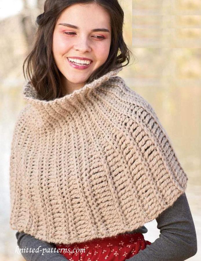 Turtleneck Cowl Crochet Pattern Free