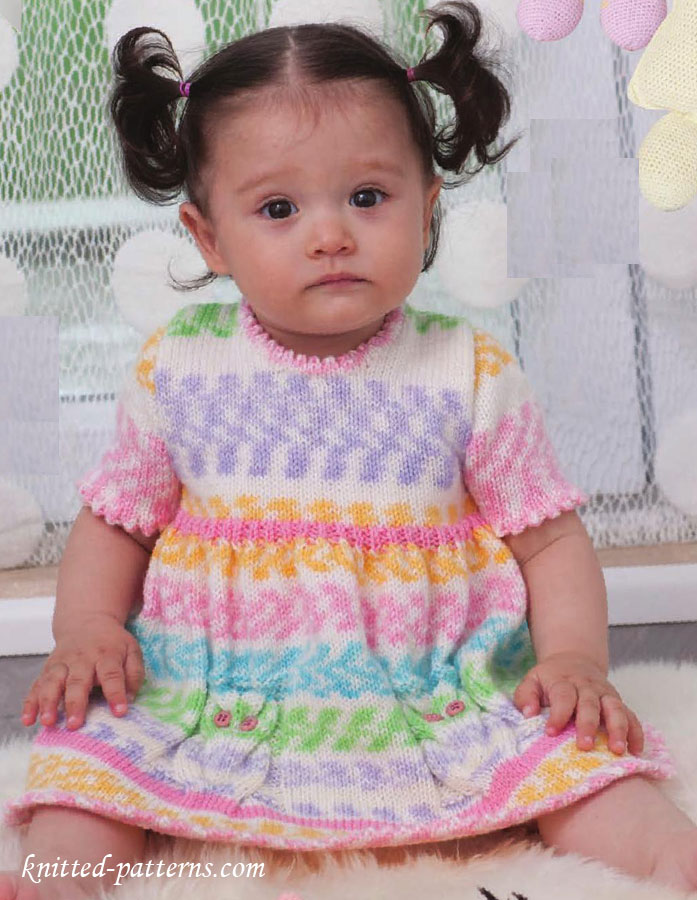 Craft Passions: Beautiful baby girl\'s dress # Free #knitting link here