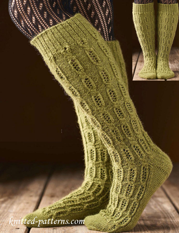 Knee high socks knitting pattern free