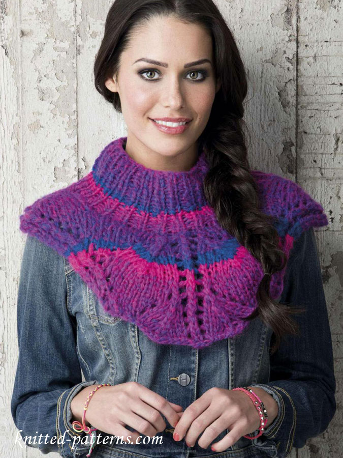 Free women\'s ponchos knitting patterns