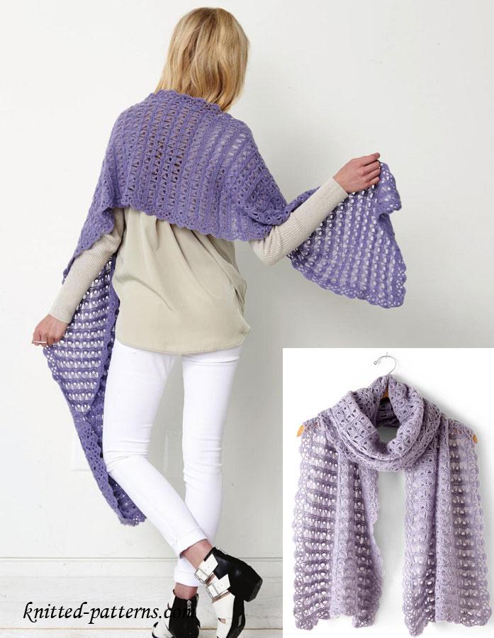 Broomstick Lace Wrap Crochet Pattern Free