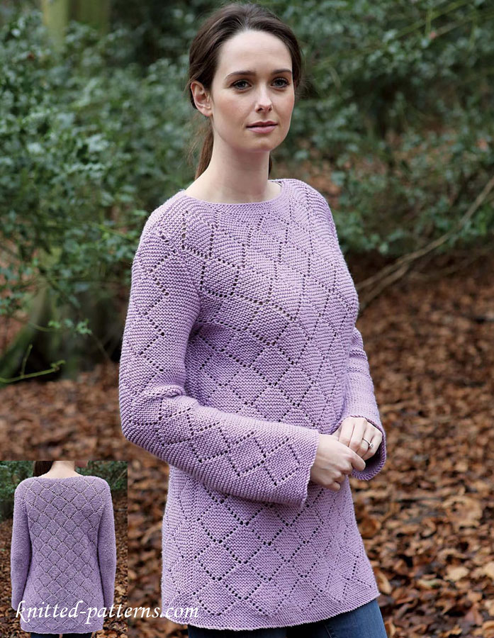 Womens tunic knitting pattern free