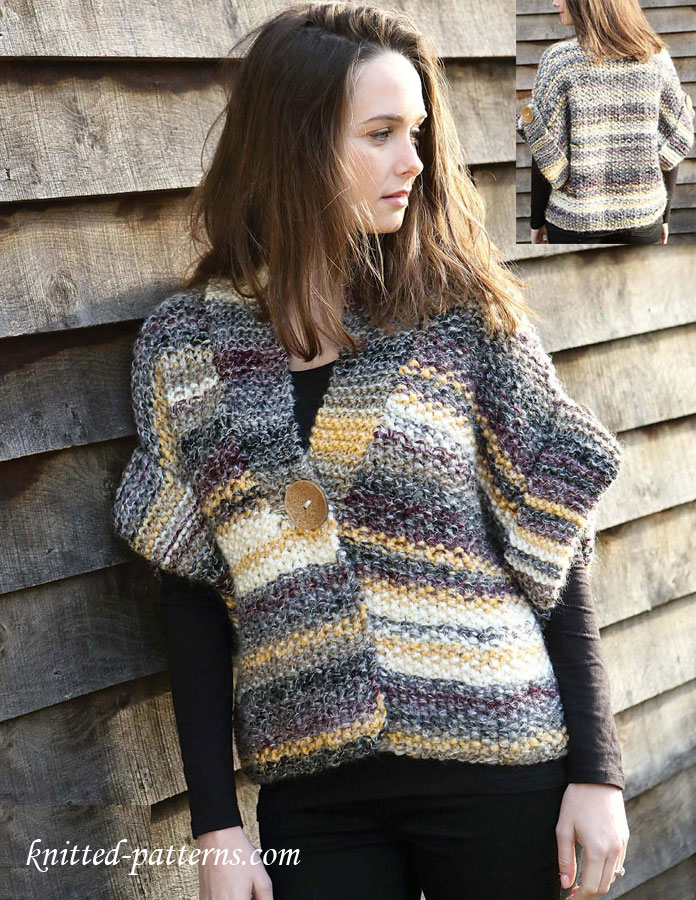 Women\'s jacket free knitting pattern
