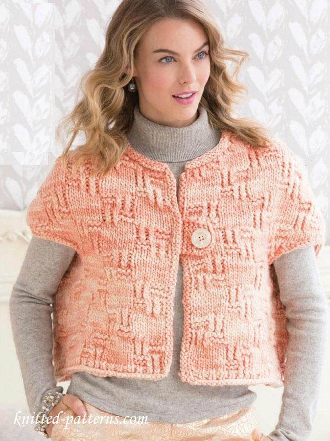 Knitting Jacket Designs : Сropped jacket knitting pattern free