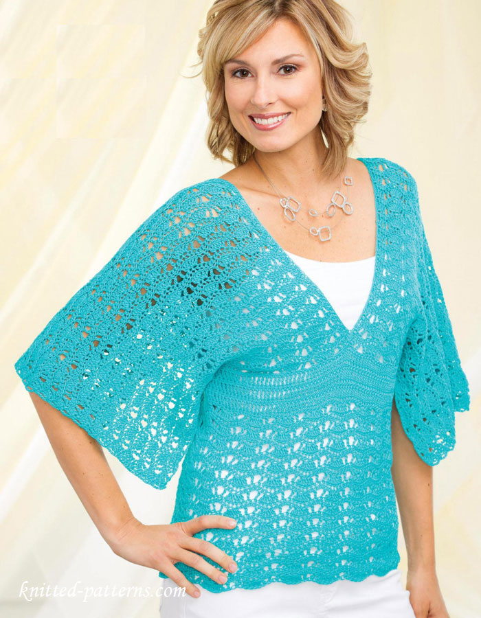 Free Crochet Pattern For Ladies Top : Womens top crochet pattern free