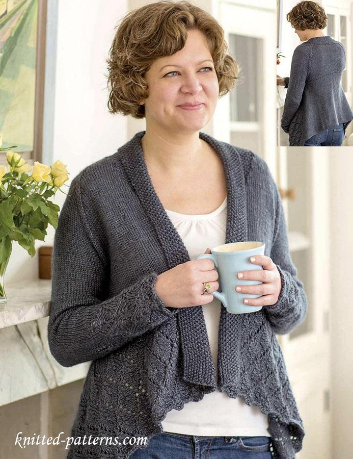 Elegant cardigan knitting pattern