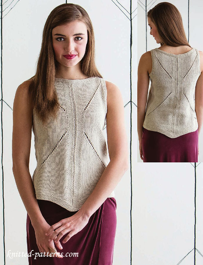 Knitting Pattern For Tank Top : Womens tank top knitting pattern