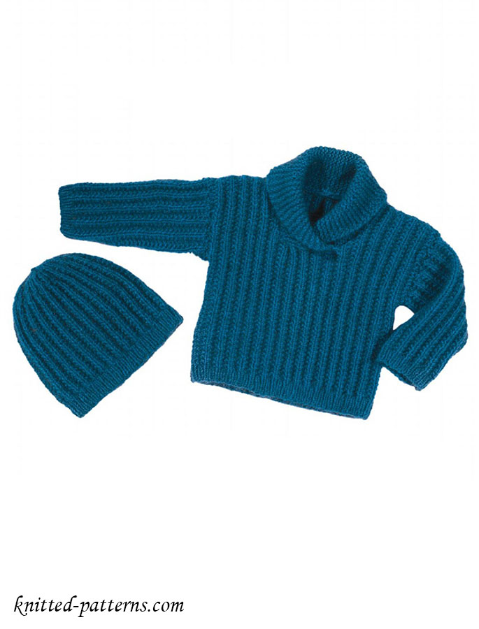 Knitted Baby Sweaters And Hats 41