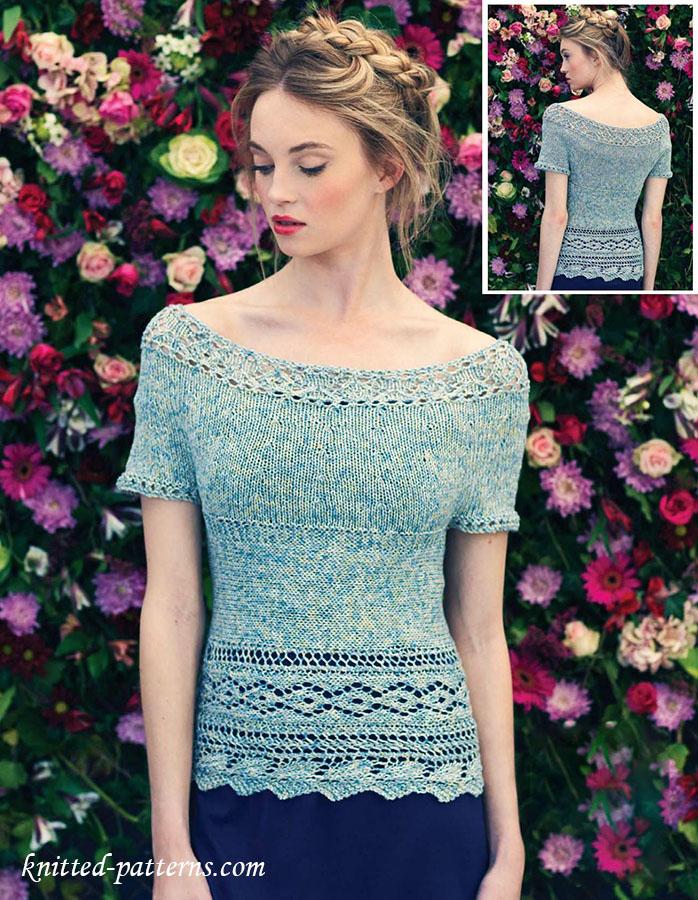 Knitting Summer Top : Summer top knitting pattern