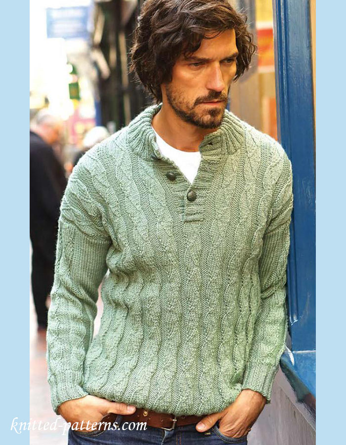 Mens Jumper Knitting Pattern : Mens jumper knitting pattern