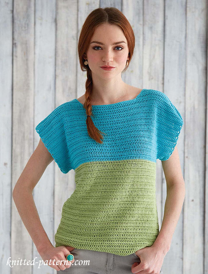 Beginner Crochet Top Patterns Free : Crochet top for beginners