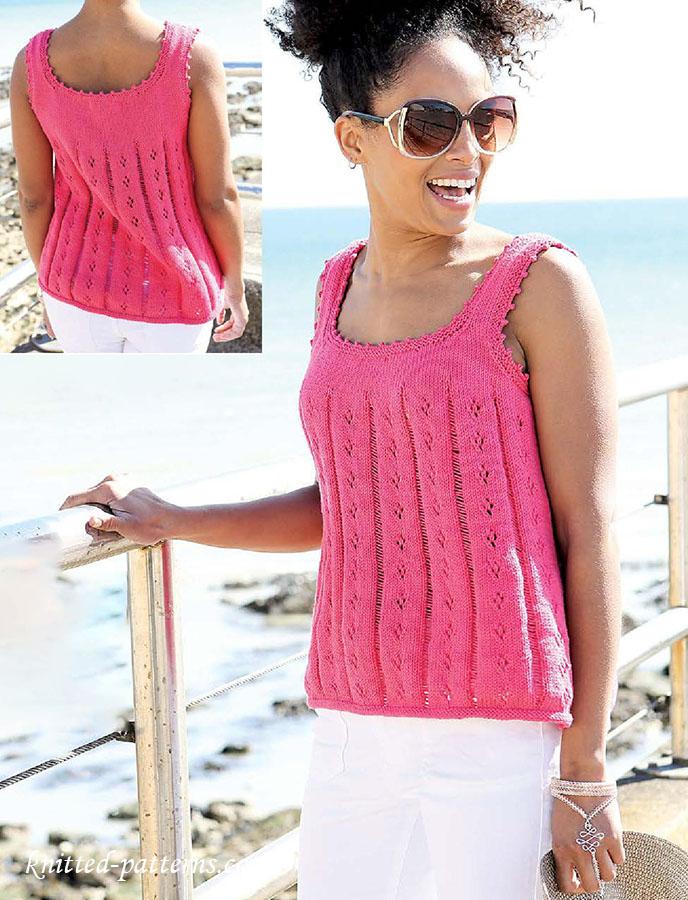 Knitting Pattern Vest Top : Summer vest top knitting pattern