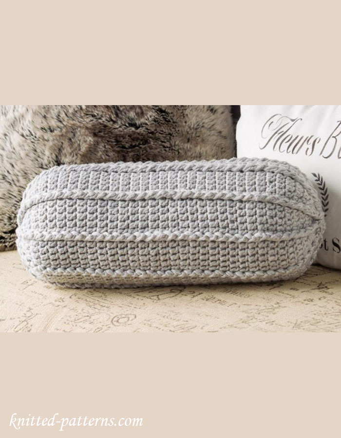 Crochet Pattern Neck Pillow : Neck roll pillow crochet pattern