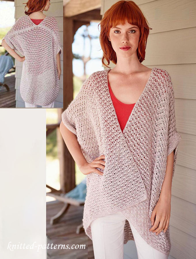 Oversized Shrug Knitting Pattern