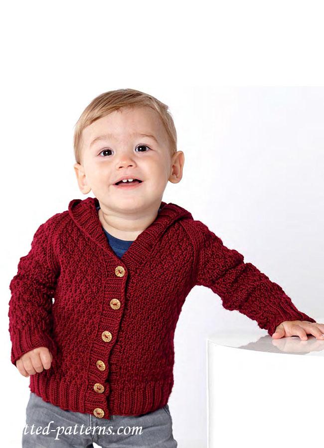 Toddler Hoodie Knitting Pattern : Baby hoodie knitting pattern