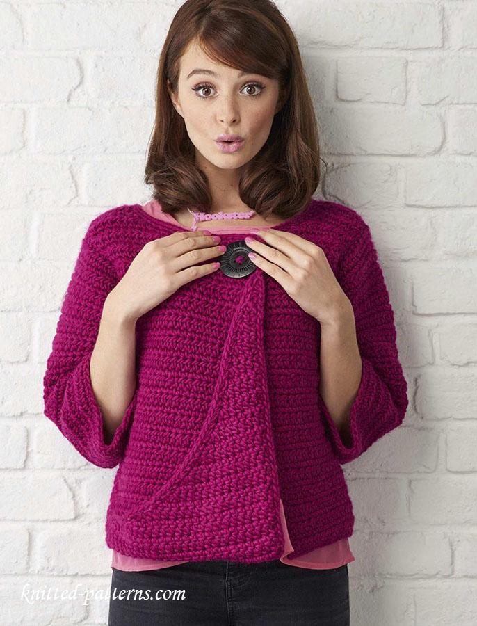 Cropped jacket knitting pattern