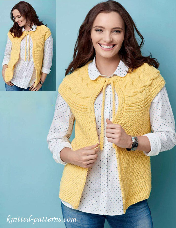 Knitting Patterns Summer Jackets : Summer jacket knitting pattern