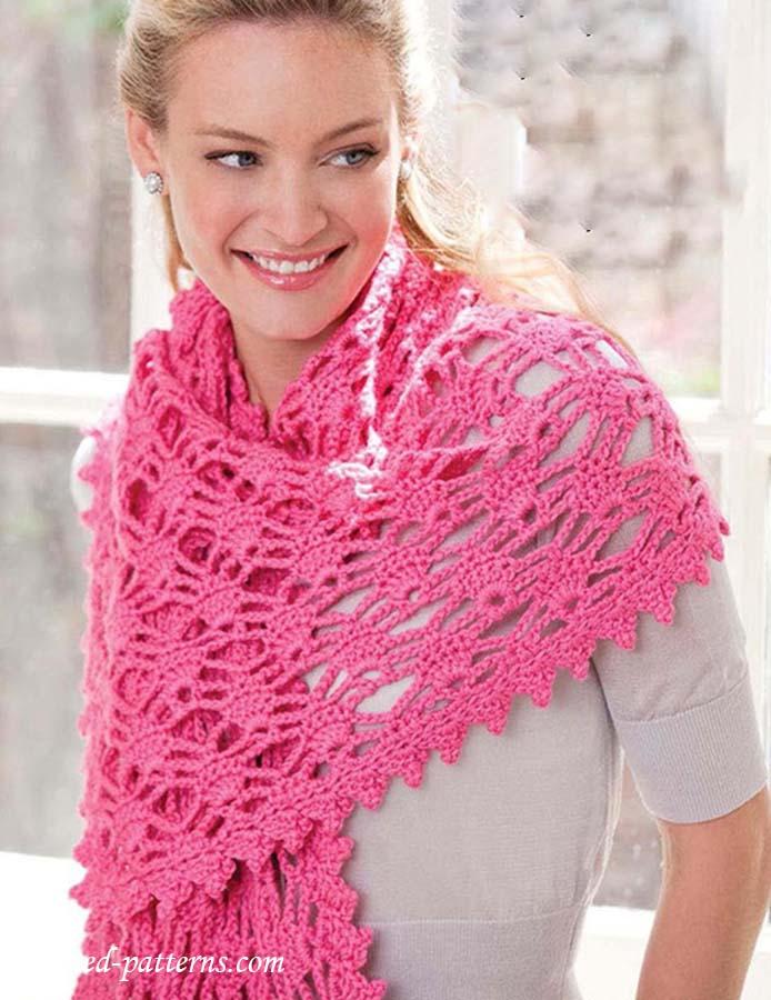 Knitting Pattern Website : Lacy shawl crochet pattern