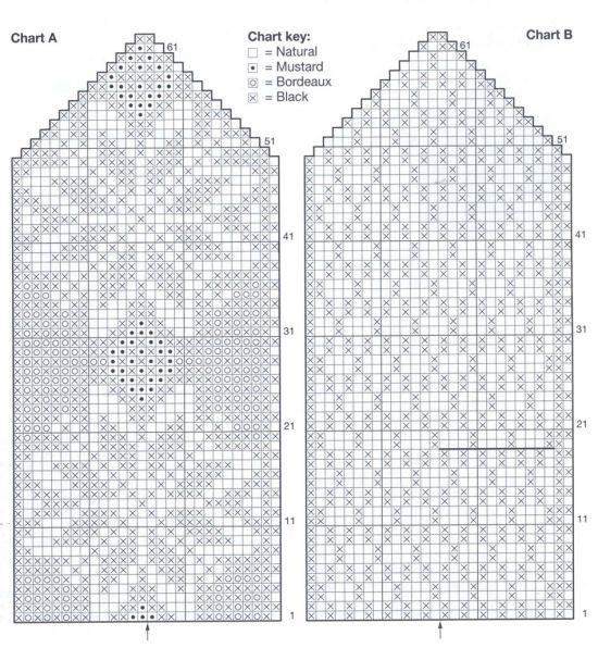 Вязание варежек схемы и узоры для спиц 854