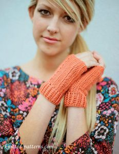 Crochet fingerless mitts free pattern