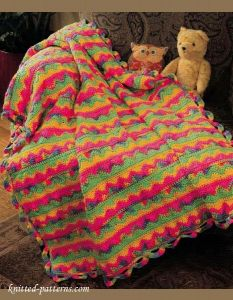 Free Crochet Patterns Childrens Blankets : Crochet kids blanket pattern free