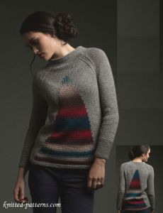 Intarsia pullover knitting pattern free