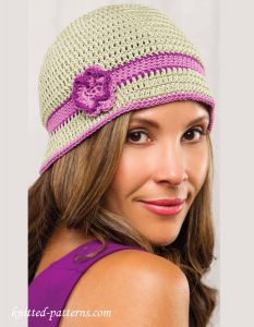 Cloche hat crochet pattern free