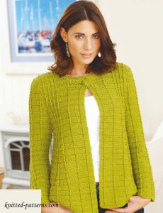 Fit-and-flare jacket crochet pattern free