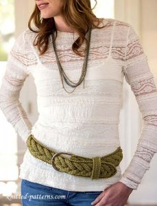 Belt crochet pattern