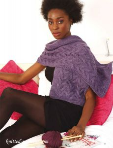 Wrap knitting pattern