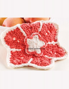 Double-Flower Dishcloth