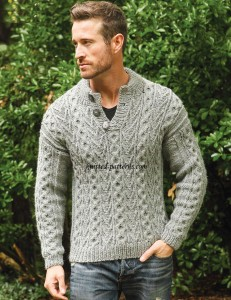 Men's Cabled Jumper