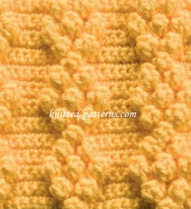 Popcorn Diamonds - Crochet Stitch