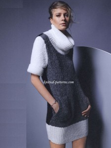 Knit Turtleneck Dress