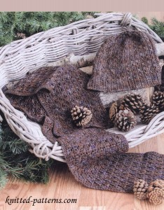 Crochet hat and scarf set free patterns