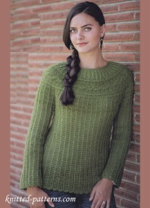 Cabled Yoke Sweater