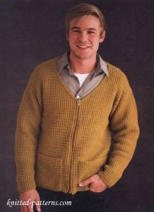 Men's jacket free knitting patterns