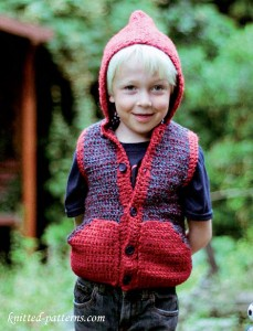 Crochet child's hooded gilet free pattern