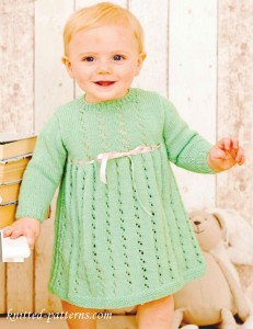 Dress for little girl free knitting pattern