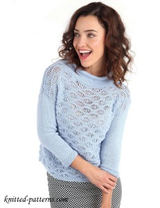 Wave stitch jumper