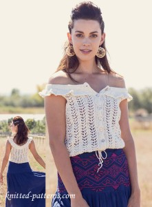 Summer knitted lace tank