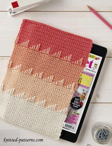 Crochet tablet sleeve free pattern