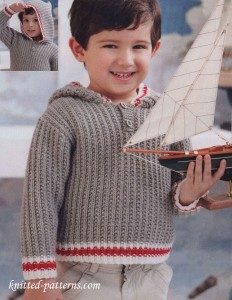 Free child's hoodie knitting pattern