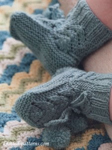 Knit baby booties pattern free