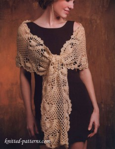Pineapple shawl crochet free pattern