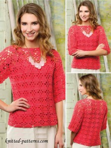 Lace pullover crochet free pattern