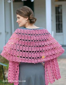 Crochet lace shawl free pattern