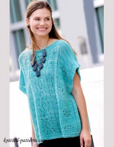Summer pullover knitting pattern free