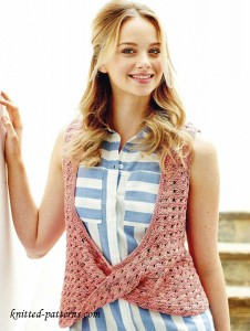 Lace vest knitting pattern free