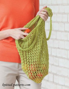 Lacy market bag knitting pattern free